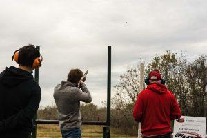Shooting at clay